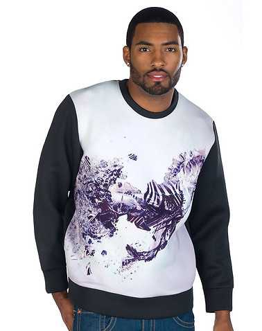 DECIBEL MENS White Clothing / Sweatshirts XL