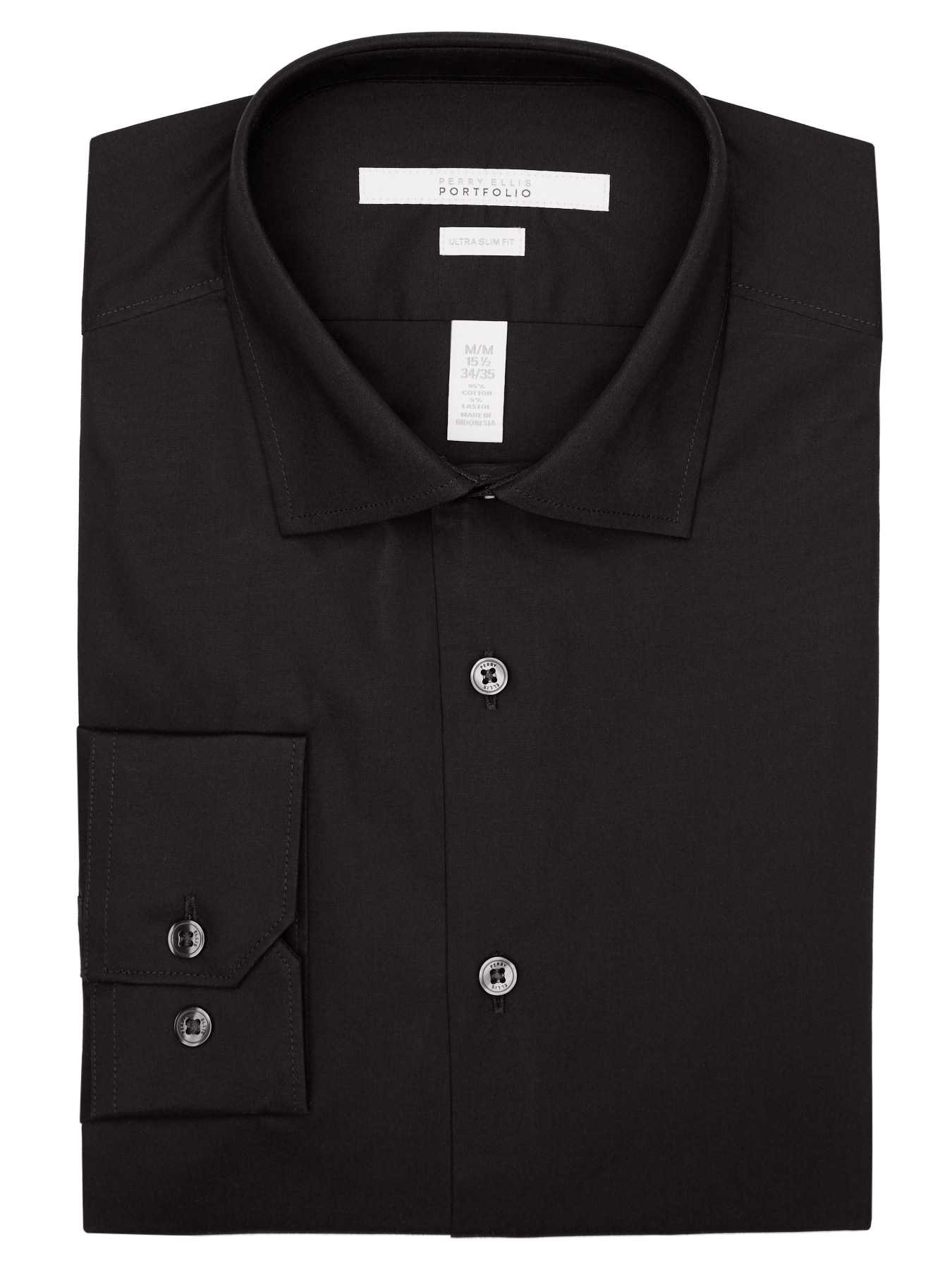 Perry Ellis Ultra Slim Solid Dress Shirt