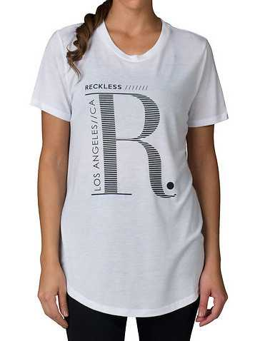 RECKLESS GIRLS WOMENS White Clothing / Tops M