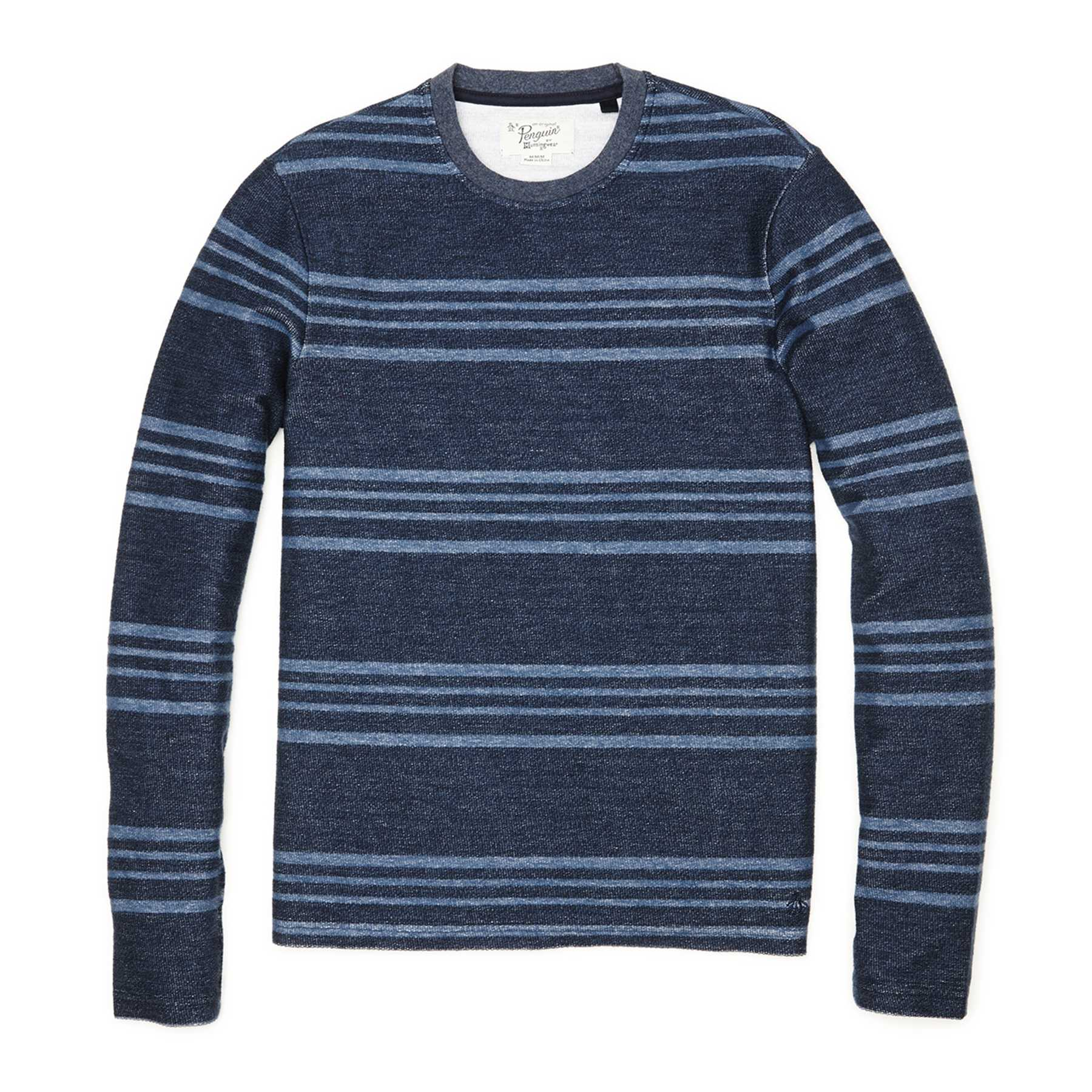 Original Penguin FEEDER STRIPE REVERSE TERRY CREW NECK