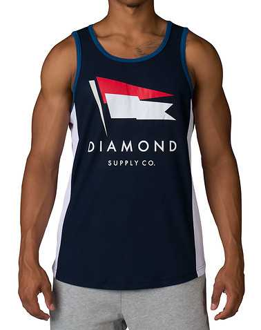 DIAMOND SUPPLY COMPANYENS Navy Clothing / Tank Tops