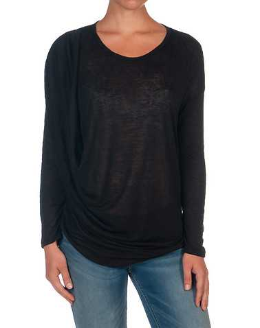 DOUBLE ZERO WOMENS Black Clothing / Tops S