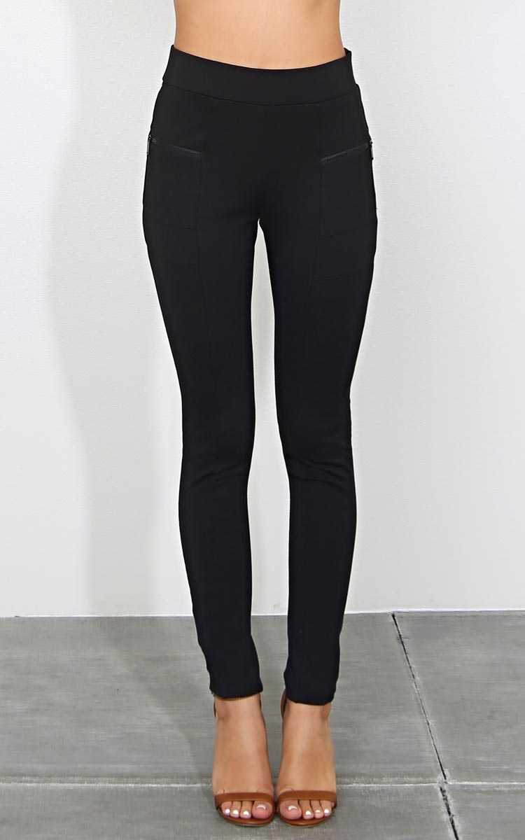 Passenger Moto Jeggings - Black in Size by Styles For Less