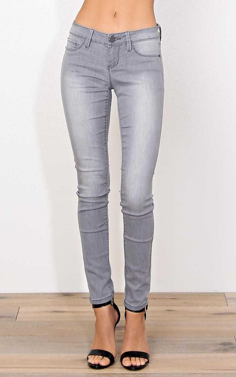 YMI Abby Denim Skinny Jeans - Grey Denim in Size by Styles For Less