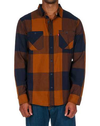 LEVIS MENS Orange Clothing / Button Down Shirts