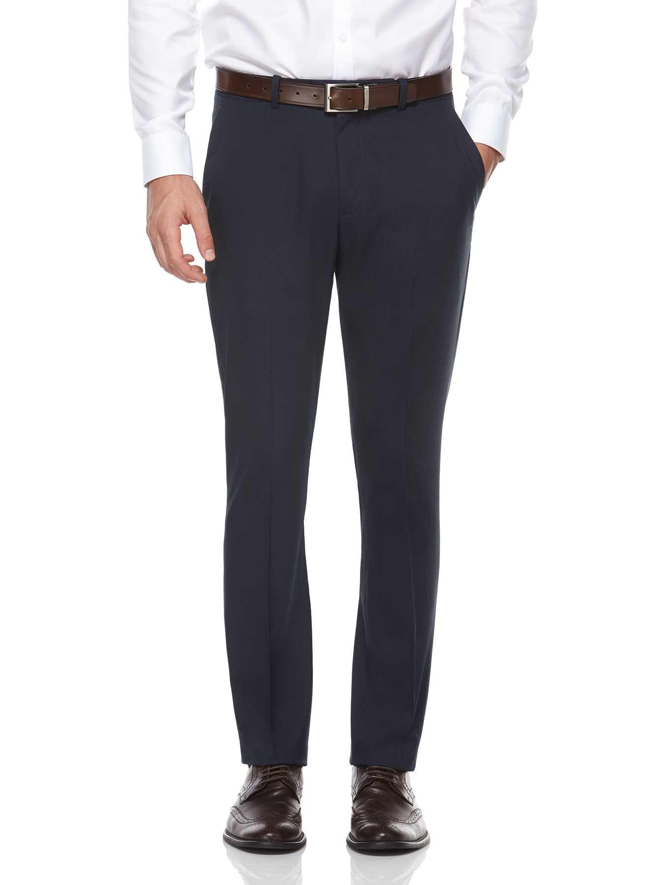 Perry Ellis Very Slim Heather Solid Dress Pant