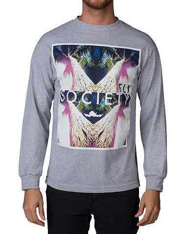 FLYOCIETY MENS Grey Clothing / Tops
