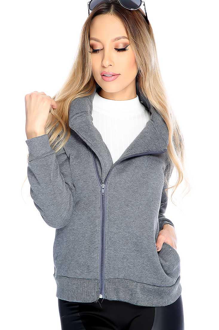 Stylish Grey Long Sleeve Sweater