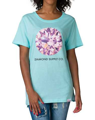 DIAMOND SUPPLY WOMEN WOMENS Medium Blue Clothing / Tank Tops