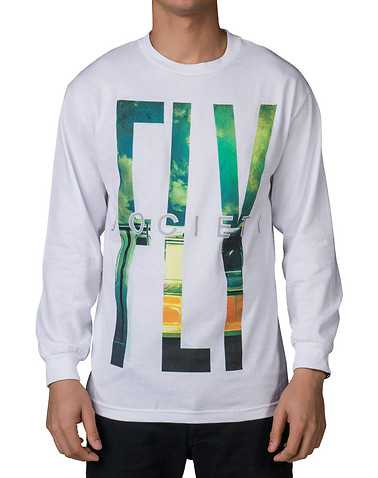 FLY SOCIETY MENS White Clothing / Tops S
