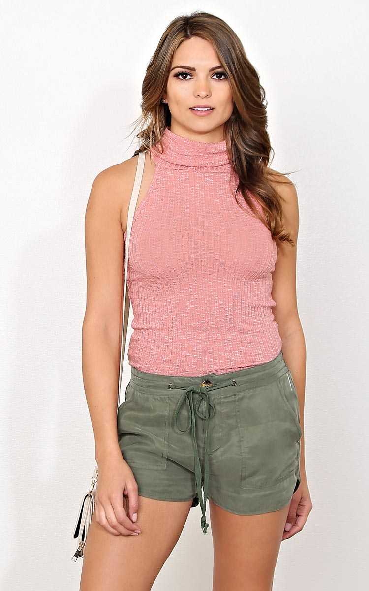 Chill Factor Rib Knit Tank - - Dusty Rose in Size by Styles For Less