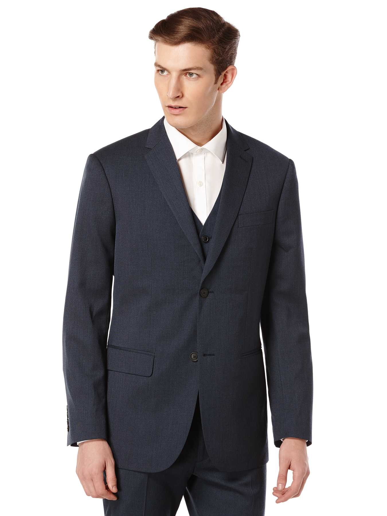 Perry Ellis Slim Fit Textured Solid Suit Jacket