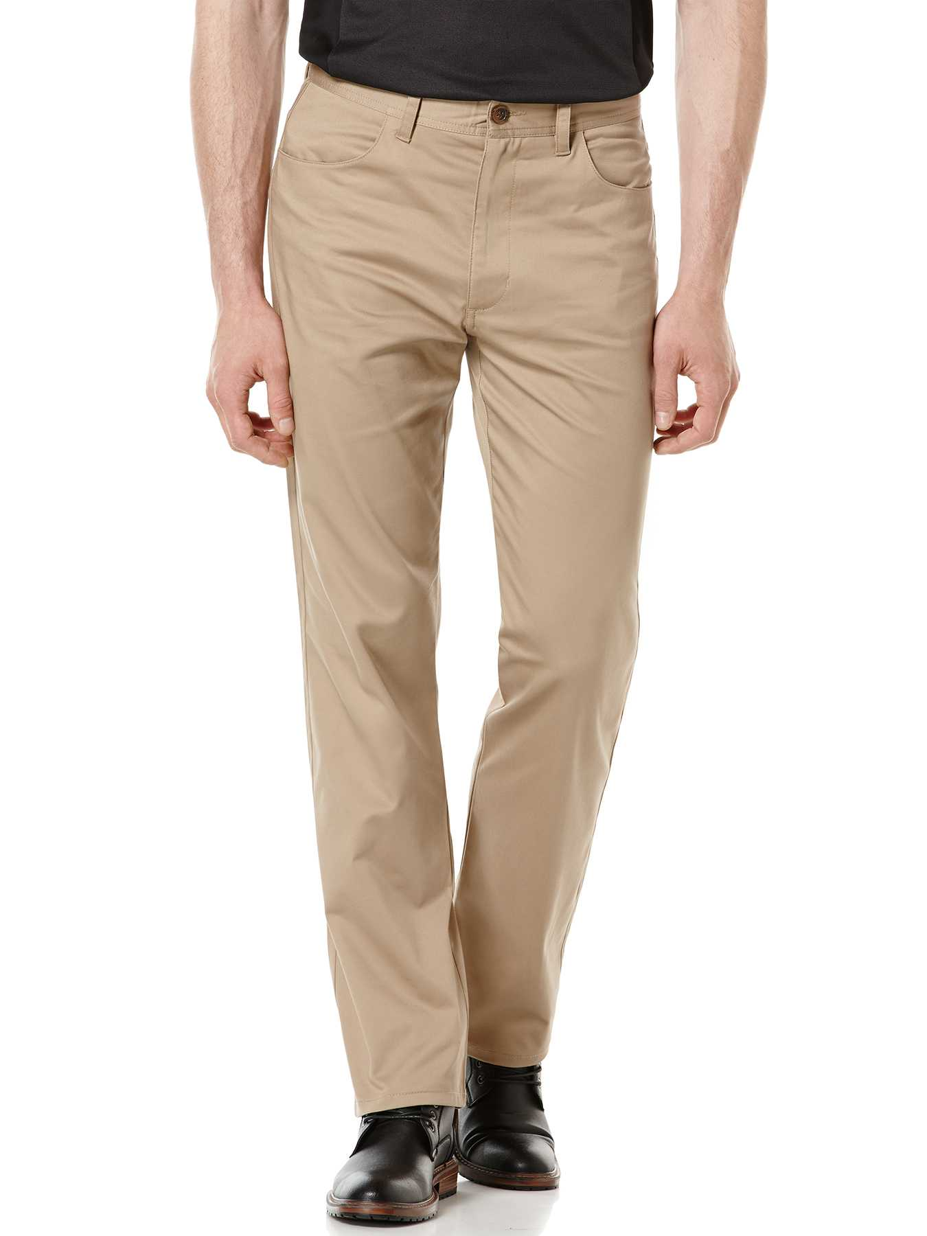 Perry Ellis Regular Fit Sateen Twill Pant