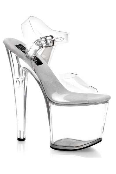 Clear Strappy Platform High Heels