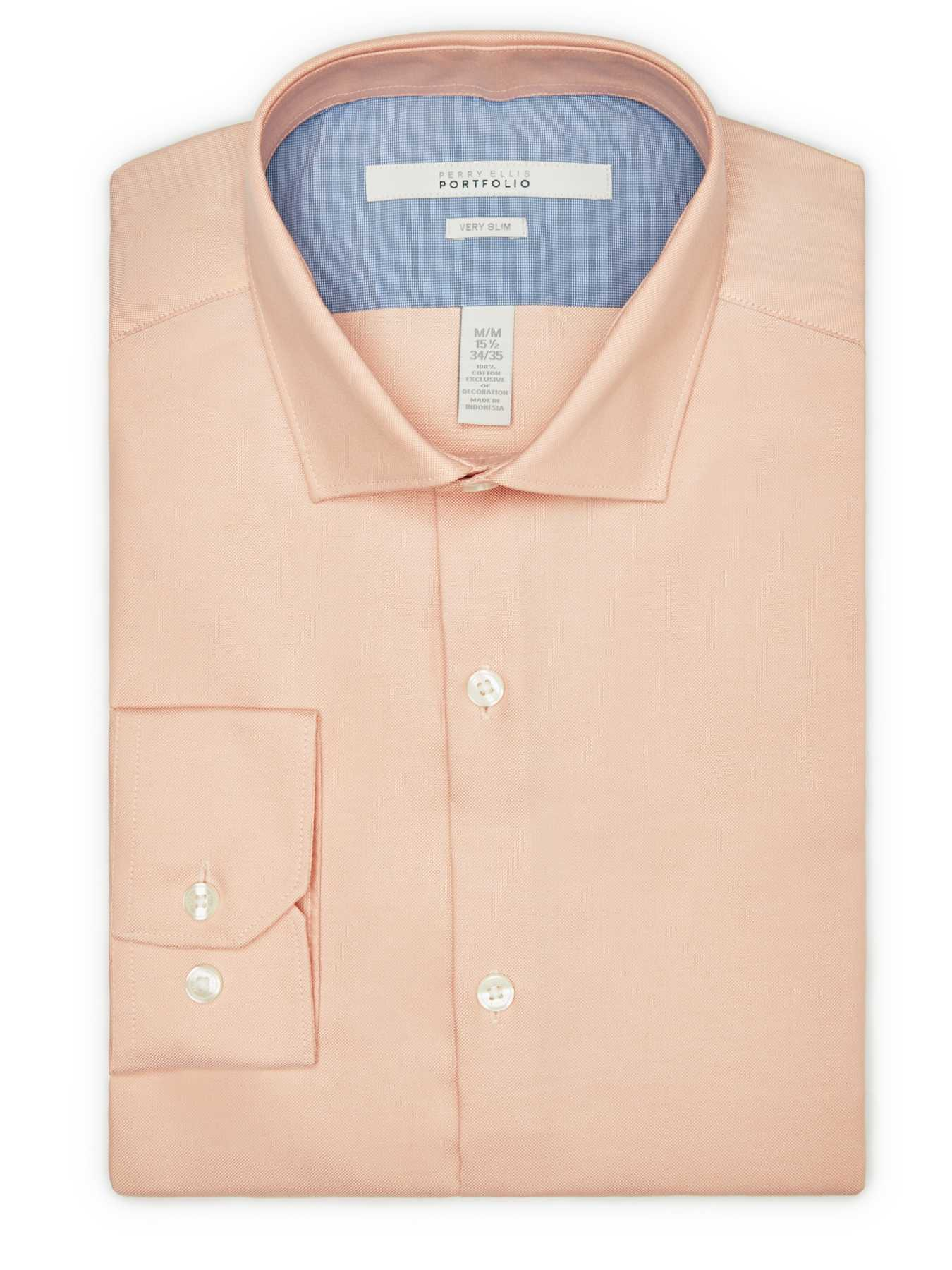 Perry Ellis Very Slim Solid Oxford Dress Shirt