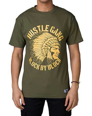 HUSTLE GANG MENS Green Clothing / Tops S