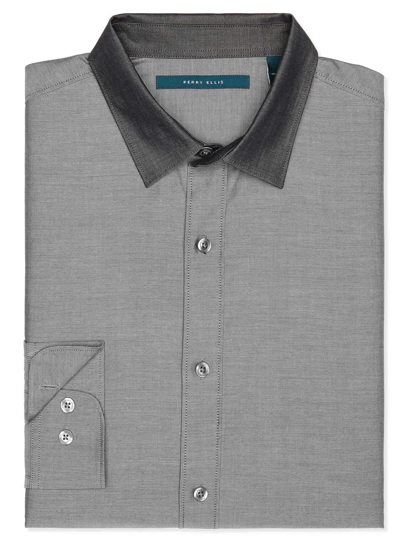 Perry Ellis Iridescent Twill Fabric Shirt