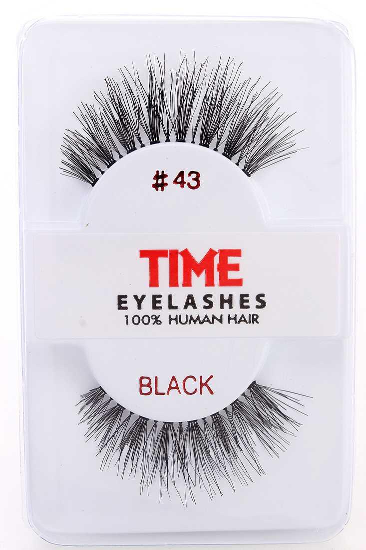 Black Human Hair Full Lengthening Glamour Eyelashes