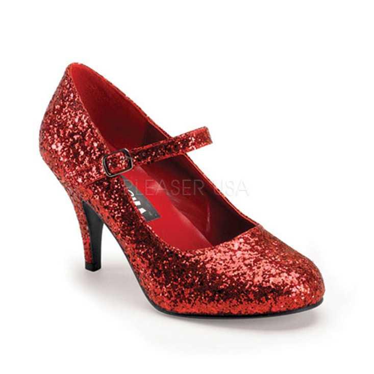 Red Glitter Maryjane High Heels