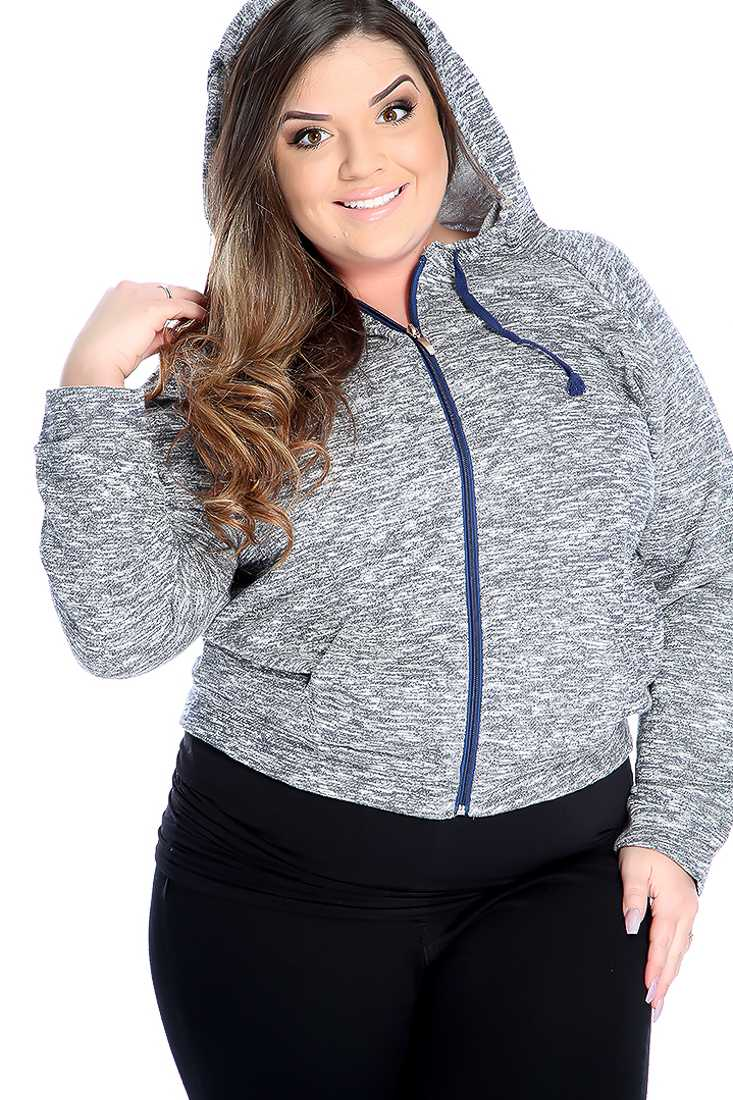 Casual Navy Plus Size Burnout Print Long Sleeve Sweater