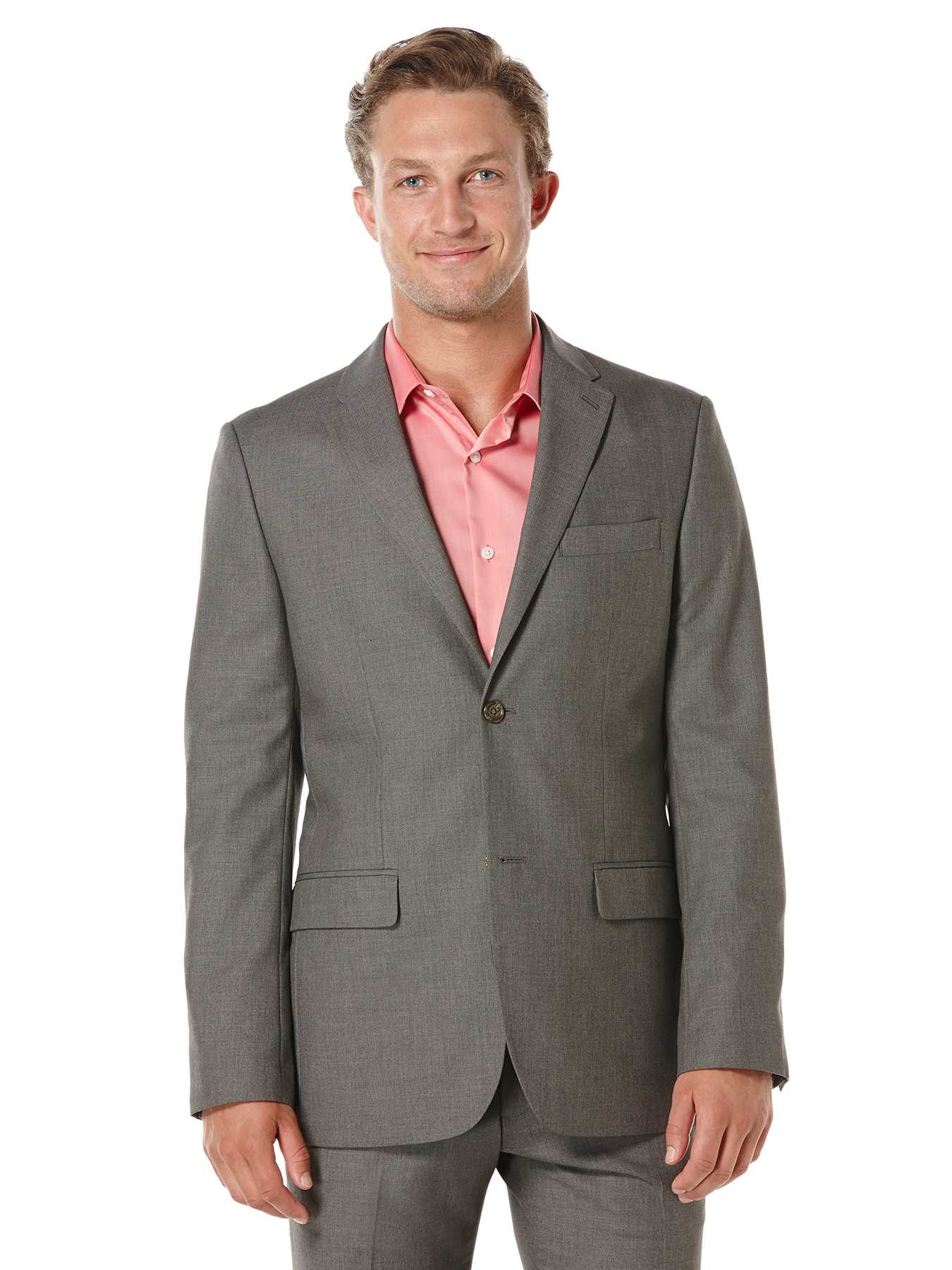 Perry Ellis Modern Fit Corded Solid Suit Jacket