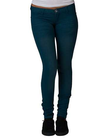 ESSENTIALS WOMENS Dark Green Clothing / Jeans