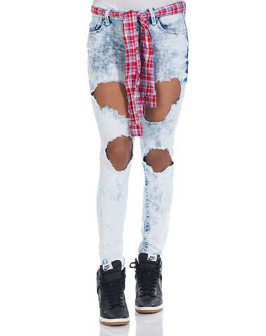 ESSENTIALS WOMENS Blue Clothing / Jeans 1