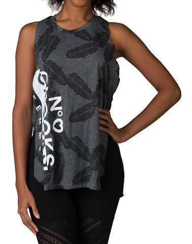 CROOKS AND CASTLES WOMENS Grey Clothing / Tank Tops M