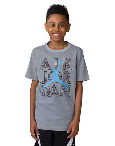JORDAN BOYS Grey Clothing / Short Sleeve T-Shirts M