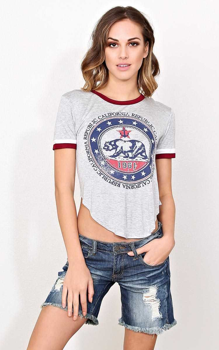 CALIFORNIA REPUBLIC 1981 Knit Top - - Heather in Size by Styles For Less