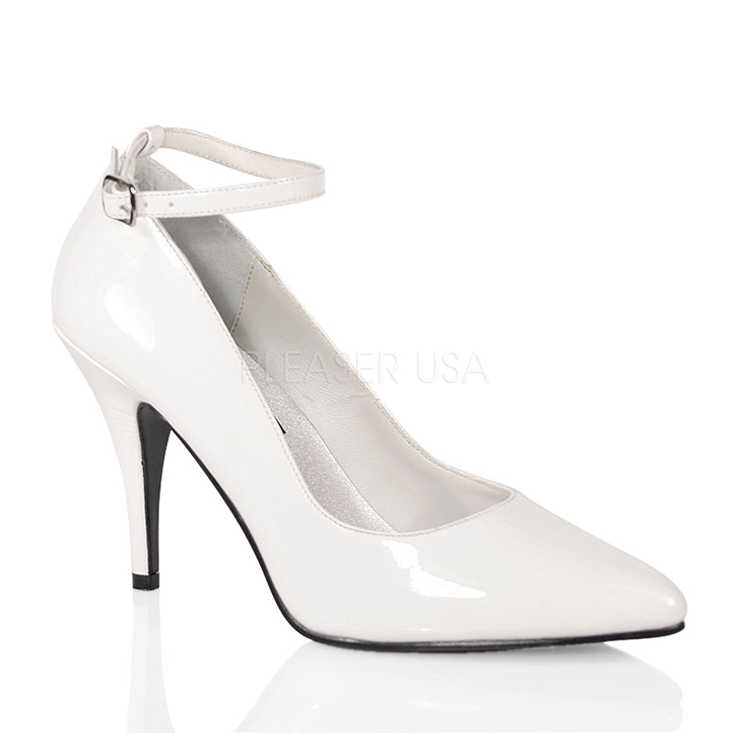 White Patent Faux Leather High Heels