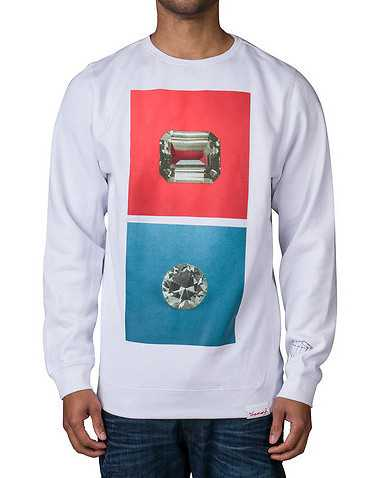 DIAMOND SUPPLY COMPANY MENS White Clothing / Sweatshirts