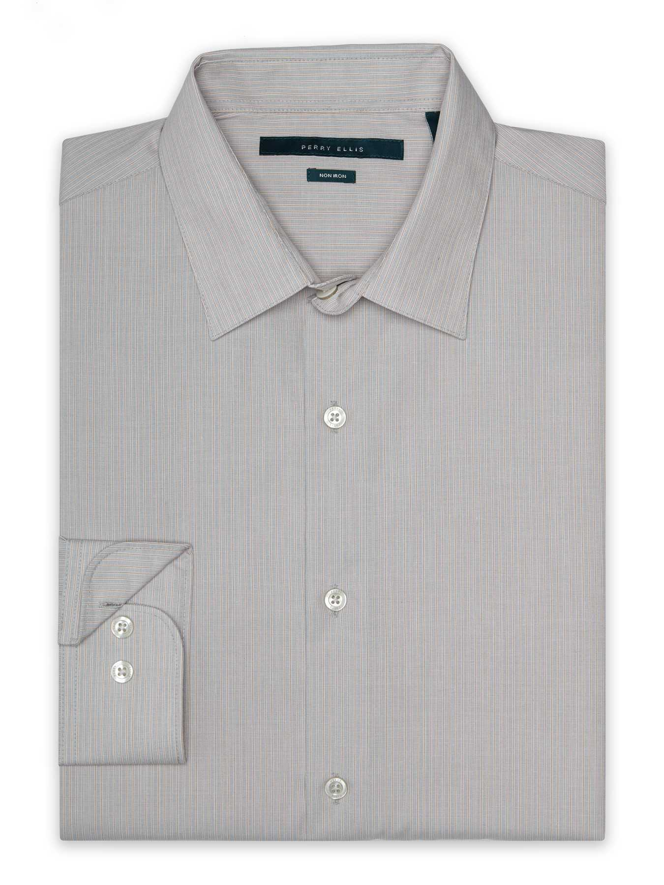 Perry Ellis Non-Iron Subtle Stripe Pattern Shirt
