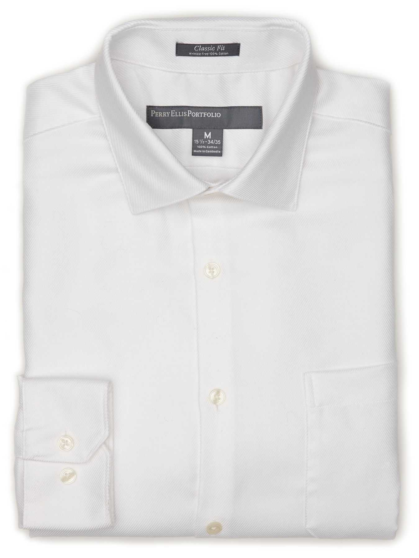 Perry Ellis Classic Fit Twill Portfolio Dress Shirt