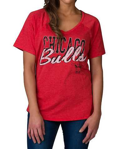MITCHELL AND NESS WOMENS Red Clothing / Tops