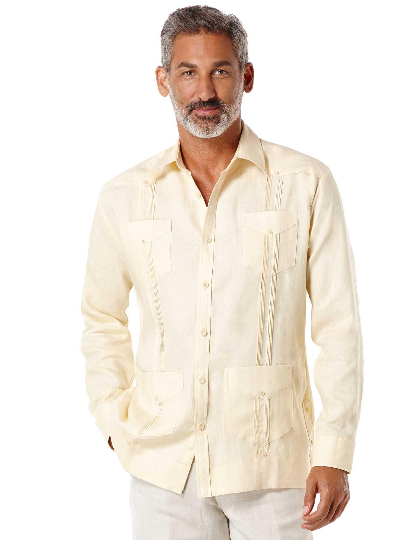 Cubavera 100% Linen Long Sleeve Classic Guayabera