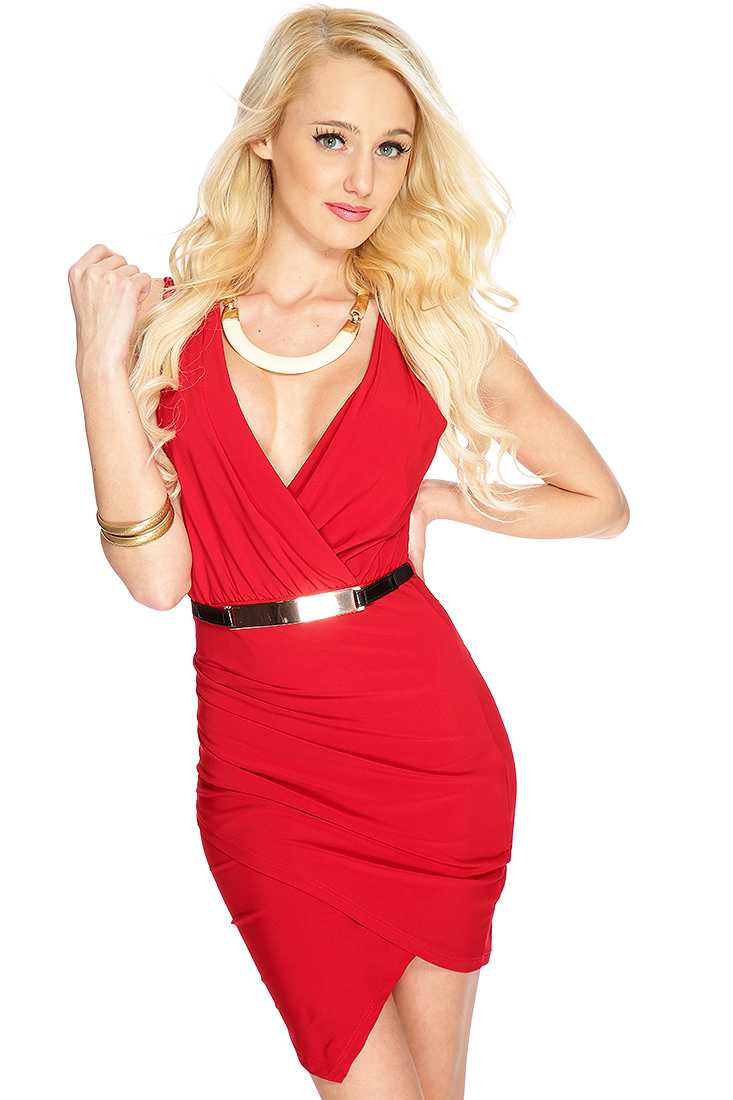 Red Sleeveless Sexy Club Wear Dress