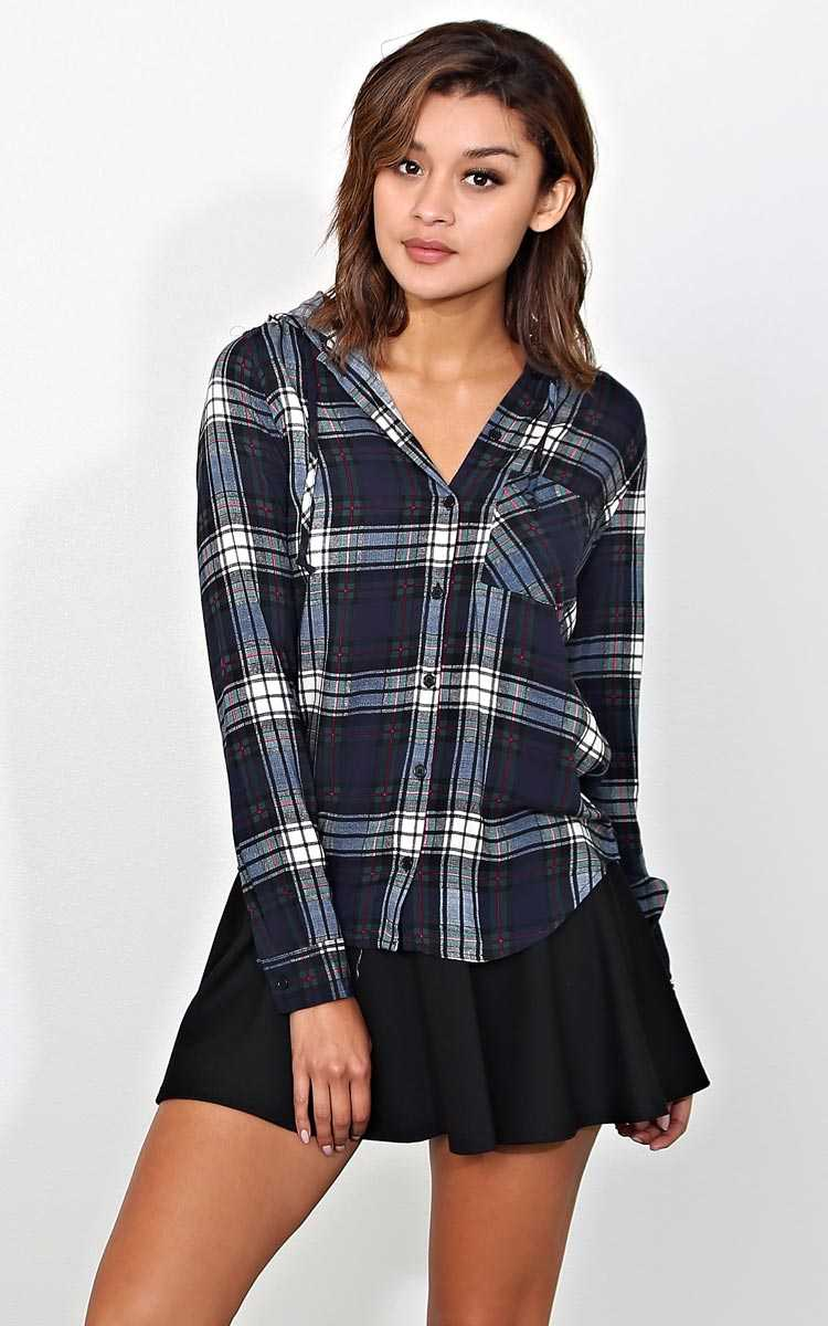 Mountain High Draped Plaid Top - - Combo in Size by Styles For Less