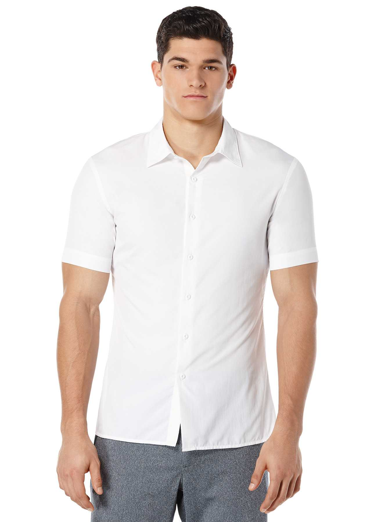 Perry Ellis Short Sleeve Slim Fit Marled Shirt