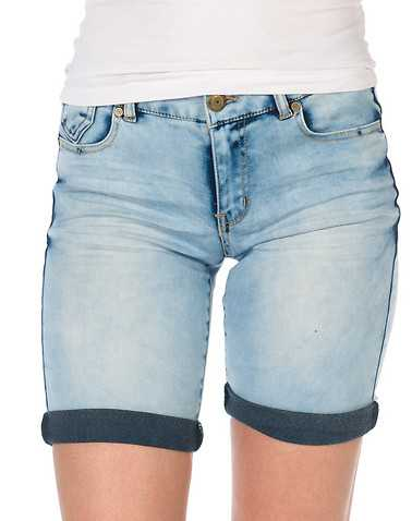 BOOM BOOM JEANS WOMENS Blue Clothing / Casual Shorts 1
