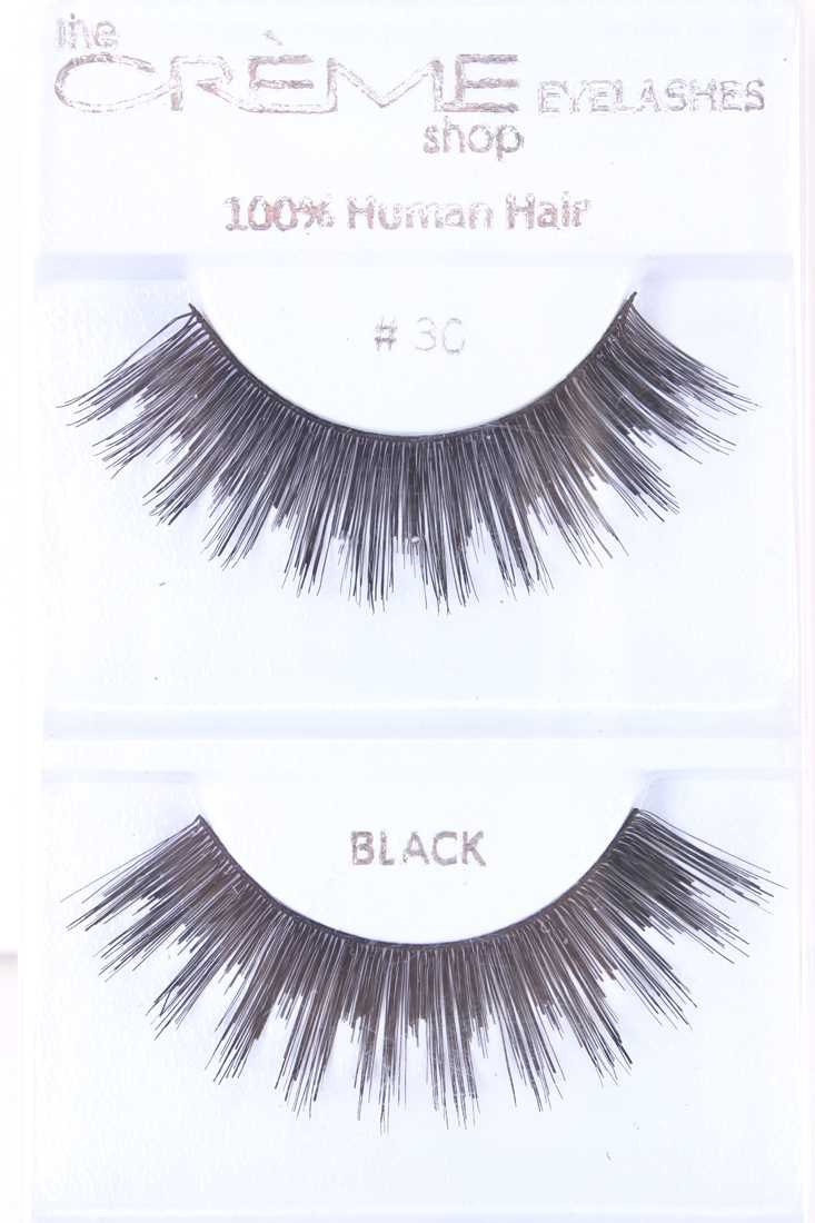 Black Full Volume Lengthening Glamour Human Hair Eyelashes