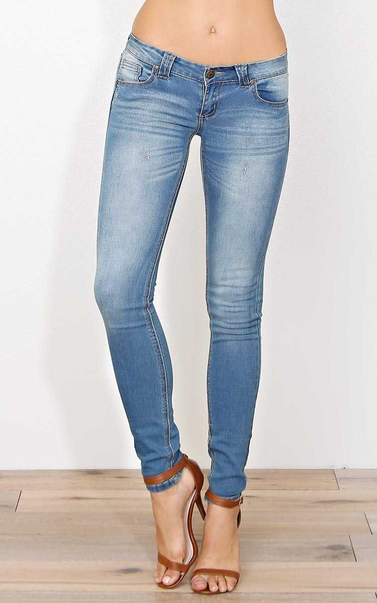 PARIS BLUES Cassidy Denim Skinny Jeans - Tinted Wash in Size by Styles For Less