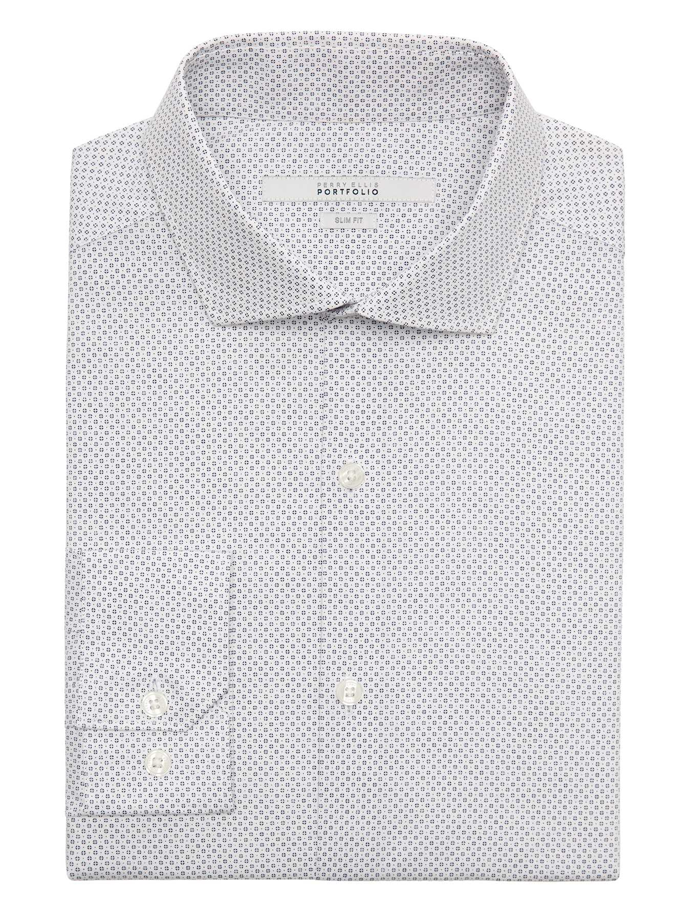 Perry Ellis Very Slim Diamond Dot Dress Shirt