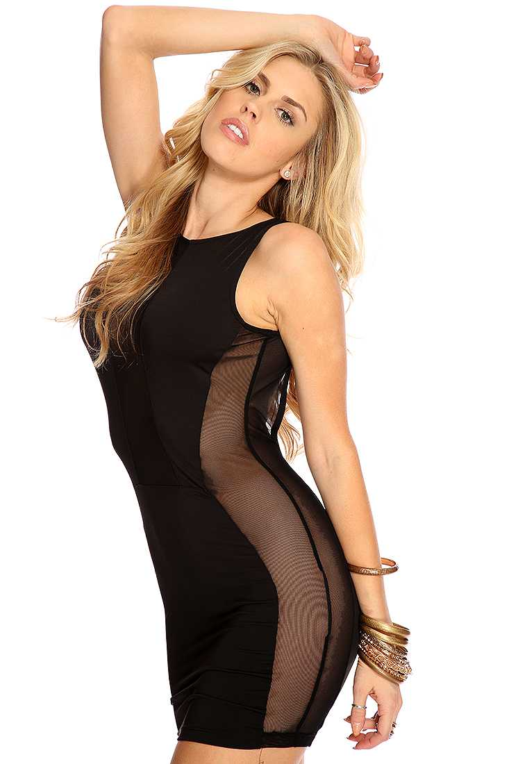 Black Plunging Scoop Back Sexy LBD