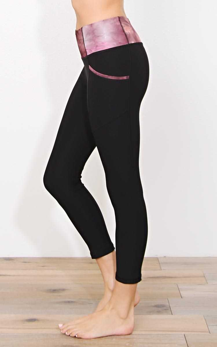 To The Limit Performance Capris - - Berry in Size by Styles For Less