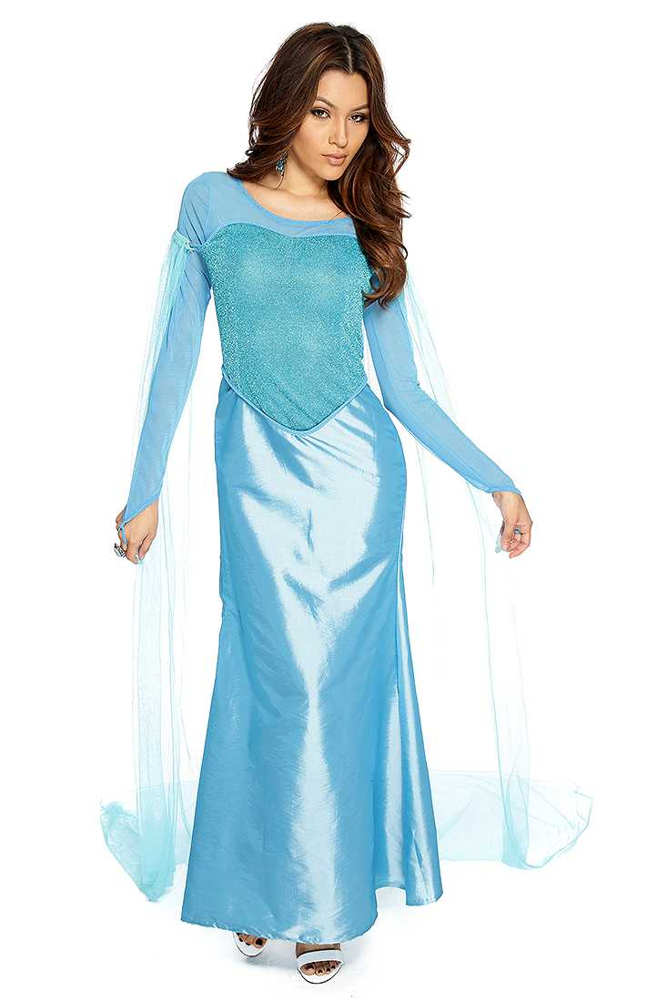 Sky Blue Snow Queen Storybook Costume