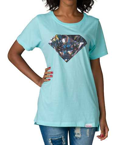 DIAMOND SUPPLY WOMEN WOMENS Medium Blue Clothing / Tops M