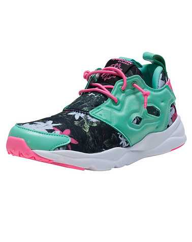 REEBOK GIRLS Medium Green Footwear / Sneakers