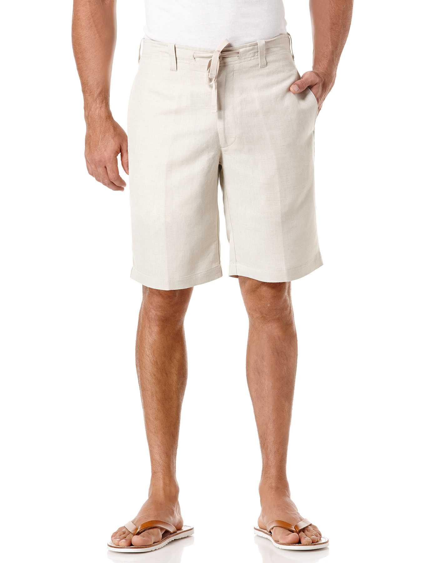 Cubavera Linen Flat Front Drawstring Short