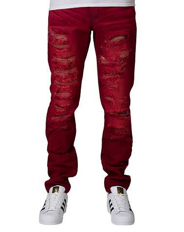 CRYSP MENS Burgundy Clothing / Jeans
